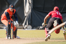 Babar Hayat was run out for 86 trying to come back for a second run in the 48th over, Hong Kong v Netherlands, WCL Championship, Mong Kok, February 18, 2017