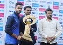 East Zone captain Manoj Tiwary receives the trophy from chairman of selectors MSK Prasad, East Zone v West Zone, Syed Mushtaq Ali Trophy Inter Zonals, Mumbai, February 18, 2017
