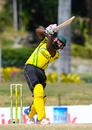 Steven Taylor drives Ravi Rampaul for 6 during his 88 off 71 balls, Jamaica v Trinidad & Tobago, WICB Regional Super50 2016-17, 1st semi-final, Antigua, February 15, 2017