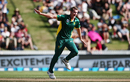 Chris Morris got the first breakthrough for South Africa with the wicket of Tom Latham, New Zealand v South Africa, 1st ODI, Hamilton, February 19, 2017