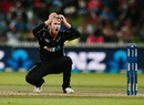 Kane Williamson reacts after a close appeal, New Zealand v South Africa, 1st ODI, Hamilton, February 19, 2017