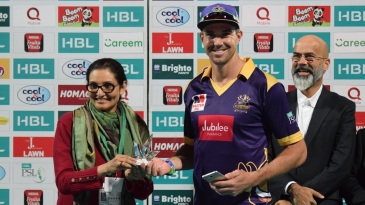 Kevin Pietersen receives his Man-of-the-Match award