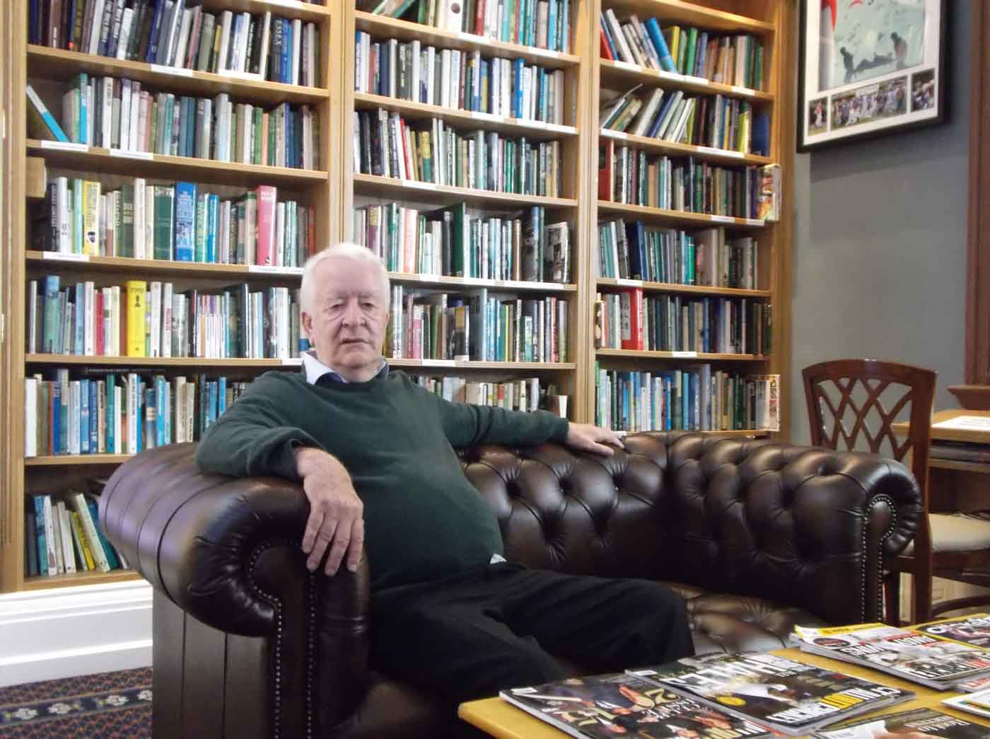 Gordon sits in the Oval's club-owned museum, of which he is the curator