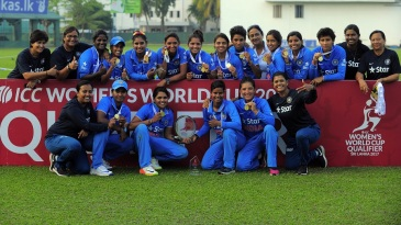 India women after winning the ICC Women's World Cup qualifier