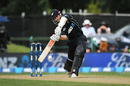 Kane Williamson looks to hit one on the up, New Zealand v South Africa, 2nd ODI, Christchurch, February 22, 2017