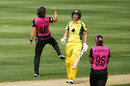 Holly Huddleston removed Elyse Villani for a duck, Australia v New Zealand, 3rd women's T20I, Adelaide, February 22, 2017