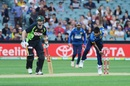 Vikum Sanjaya bowls past Michael Klinger, Australia v Sri Lanka, 3rd T20 International, Adelaide, February 22, 2017
