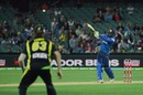 Upul Tharanga deposits the ball for a maximum, Australia v Sri Lanka, 3rd T20 International, Adelaide, February 22, 2017
