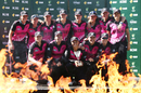 New Zealand women pose with the series trophy, Australia v New Zealand, 3rd women's T20I, Adelaide, February 22, 2017