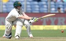 Steven Smith made a resolute half-century, India v Australia, 1st Test, Pune, 2nd day, February 24, 2017