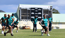 England warm up during training, St Kitts, February 23, 2017