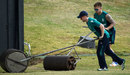 New jobs? Eoin Morgan and Jason Roy shift the rollers during training, St Kitts, February 24, 2017