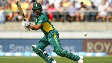 JP Duminy looks on after playing a shot