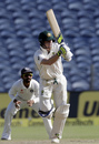 Steven Smith works the ball through the leg side, India v Australia, 1st Test, Pune, 3rd day, February 25, 2017