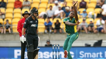 Kagiso Rabada charges in to bowl