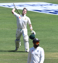 Steven Smith is thrilled to reach his century, India v Australia, 1st Test, Pune, 3rd day, February 25, 2017