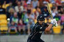 Ross Taylor cuts the ball effortlessly, New Zealand v South Africa, 3rd ODI, Wellington, February 25, 2017