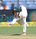 A few tough chances came Peter Handscomb's way at short leg, India v Australia, 1st Test, Pune, 3rd day, February 25, 2017