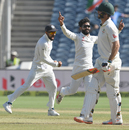 Ravindra Jadeja had Mitchell Marsh caught behind early on the third day, India v Australia, 1st Test, Pune, 3rd day, February 25, 2017