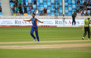 Sohail Khan took the wicket of Fakhar Zaman, Karachi Kings v Lahore Qalandars, PSL 2016-17, Dubai, February 25, 2017