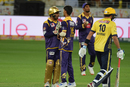 Sarfraz Ahmed has a word with young left-arm spinner Hasan Khan, Peshawar Zalmi v Quetta Gladiators, PSL 2017, Dubai, February 25, 2017