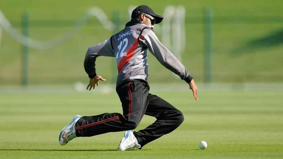 Chirag Suri fields a ball