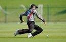 Chirag Suri fields a ball, UAE Under-19 v England Under-19, Under-19 World Cup, Abu Dhabi, February 14, 2014