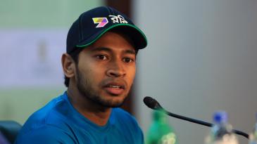 Bangladesh Test captain Mushfiqur Rahim addresses a press conference