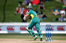 Hashim Amla hits into the leg side, New Zealand v South Africa, 4th ODI, Hamilton, March 1, 2017