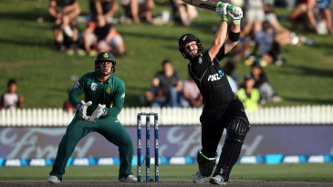 Martin Guptill launches one into the sky