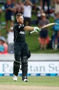 Martin Guptill celebrates his century, New Zealand v South Africa, 4th ODI, Hamilton, March 1, 2017
