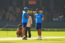 Anil Kumble and Virat Kohli engage in discussion at the practice session, India v Australia, 2nd Test, Bengaluru, March 3, 2017