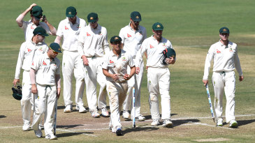 Australia walk back after the victory
