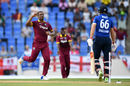 Joe Root was bowled by Shannon Gabriel for 4, West Indies v England, Antigua, March 3, 2017