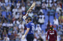Eoin Morgan acknowledges his 10th ODI hundred, West Indies v England, 1st ODI, Antigua, March 3, 2017