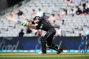Martin Guptill lost his stumps after yorking himself, New Zealand v South Africa, 5th ODI, Auckland, March 4, 2017