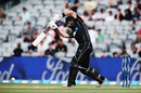 Dean Brownlie drives on the up, New Zealand v South Africa, 5th ODI, Auckland, March 4, 2017