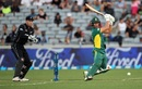 AB de Villiers slaps one through the off side, New Zealand v South Africa, 5th ODI, Auckland, March 4, 2017
