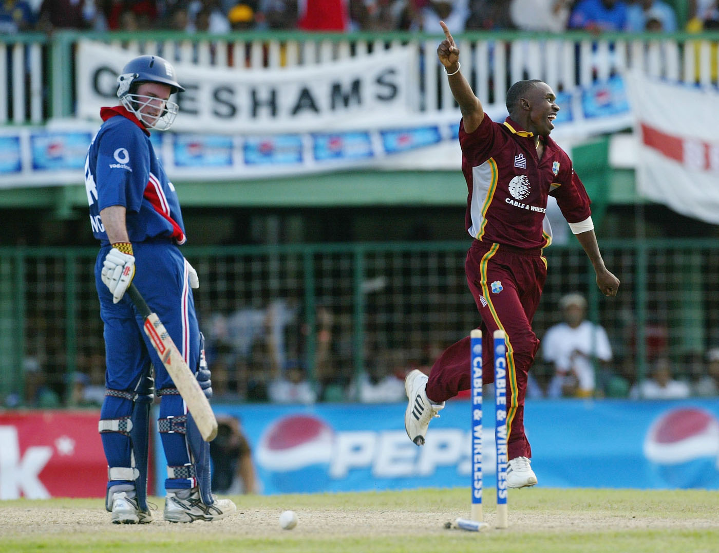Dwayne Bravo, on debut, rattled England in the middle overs