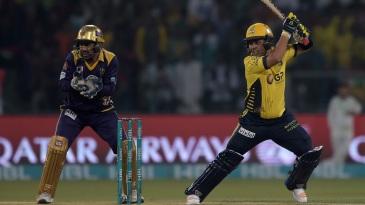 Kamran Akmal lays into a cut shot