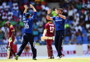 Liam Plunkett claimed the key wicket of Jason Mohammed, West Indies v England, 2nd ODI, Antigua, March 5, 2017