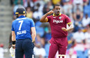 Shannon Gabriel removed Sam Billings first ball, West Indies v England, 2nd ODI, Antigua, March 5, 2017