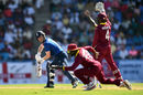 Eoin Morgan fell lbw to Ashley Nurse for 7, West Indies v England, 2nd ODI, Antigua, March 5, 2017