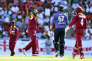 Ashley Nurse had Jason Roy caught at long-on, West Indies v England, 2nd ODI, Antigua, March 5, 2017