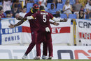 Two to tango: Carlos Brathwaite and Ashley Nurse show off some moves, West Indies v England, 2nd ODI, Antigua, March 5, 2017
