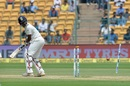 Abhinav Mukund loses his off stump, India v Australia, 2nd Test, Bengaluru, 3rd day, March 6, 2017