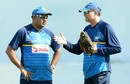 Coach Graham Ford and manager Asanka Gurusinha have a chat, Galle, March 6, 2017