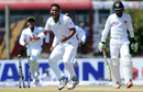 Subashis Roy was delighted after bowling Upul Tharanga for 4, Sri Lanka v Bangladesh, 1st Test, Galle, 1st day, March 7, 2017