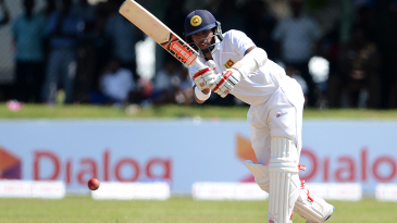 Kusal Mendis plays a flick on the leg side