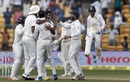 R Ashwin celebrates with team-mates after closing out the Test, India v Australia, 2nd Test, Bengaluru, 4th day, March 7, 2017
